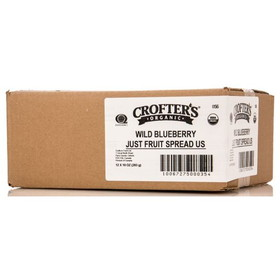 Crofter's Wild Blueberry Just Fruit Spread, Organic - 12 x 10 ozs.