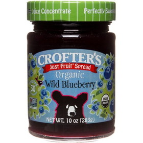 Crofter's Wild Blueberry Just Fruit Spread, Organic - 10 ozs.