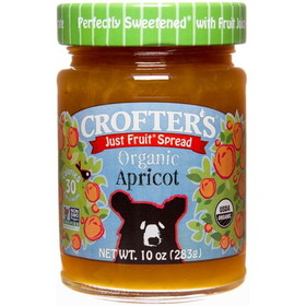 Crofter's Apricot Just Fruit Spread, Organic - 10 ozs.