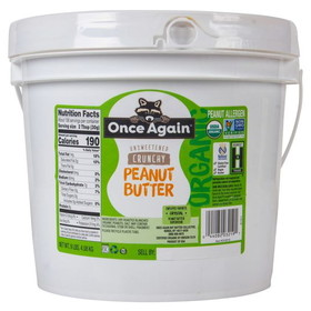 Once Again Nut Butter, Inc. Peanut Butter, Crunchy Salted, Organic - 9 lbs.