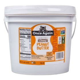 Once Again Nut Butter, Inc. Peanut Butter, Creamy Salted Natural, NB067, Price/9 lbs