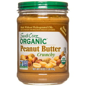 Santa Cruz Peanut Butter, Dark Roasted, Crunchy, Organic, NB083, Price/16 ozs