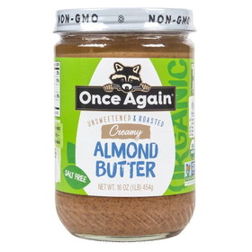 Once Again Nut Butter. Organic Almond Butter, Smooth - 16 ozs