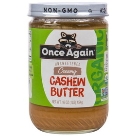 Once Again Nut Butter, Inc. Cashew Butter, Organic, NB118, Price/16 ozs