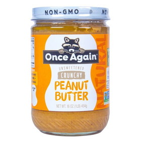 Once Again Nut Butter, Inc. Peanut Butter Old Fashioned Crunchy, Salted - 16 ozs.