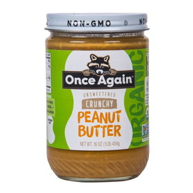 Once Again Nut Butter, Inc. Peanut Butter, Crunchy Salted, Organic - 16 ozs