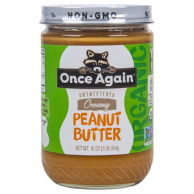 Once Again Nut Butter, Inc. Peanut Butter, Smooth Salted, Organic - 16 ozs.