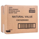Natural Value Quart Storage Bags, NF169