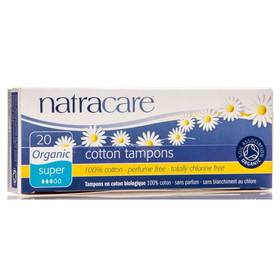 Natracare Super Tampons, Organic - 20 ct.