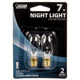 Feit Electric 15 Watt Night Light Bulb, 2 bulbs - 3 x 1 pkg.