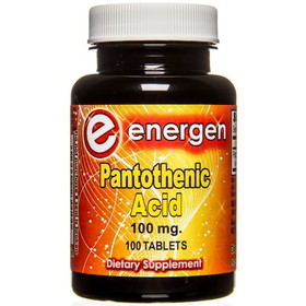 Energen Pantothenic Acid B-5 - 100 tablets