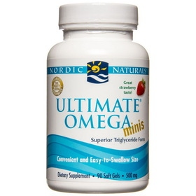 Nordic Naturals Ultimate Omega Minis, Strawberry 500 mg - 90 softgels