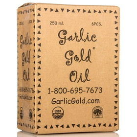 Garlic Gold Garlic Oil, Organic - 6 x 8.44 ozs.