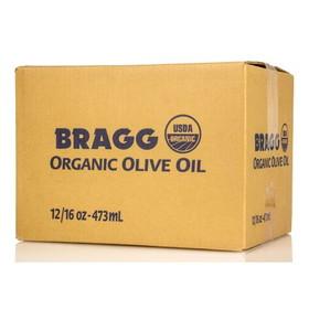 Bragg's Olive Oil, Extra Virgin, Organic - 12 x 16 ozs.
