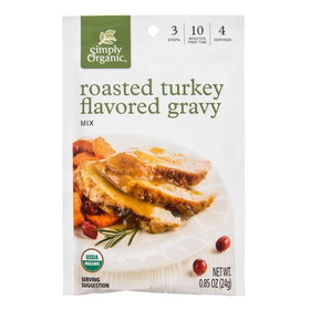 Simply Organic Roasted Turkey Gravy Mix, Organic - 3 x 0.85 ozs.