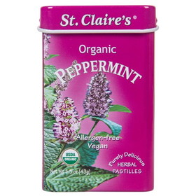 St. Claire's Peppermints, Organic - 1 tin
