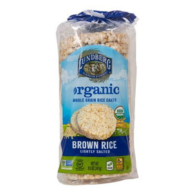 Lundberg Rice Cakes, Brown, Salted, Organic, Gluten-Free, SN040, Price/8.5 ozs