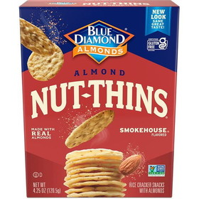Blue Diamond Almond Nut Thins, Smokehouse - 3 x 4.25 ozs.