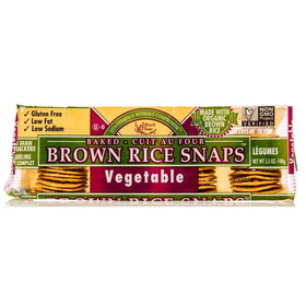 Edward & Sons Brown Rice Snaps, Vegetable - 3.5 ozs.