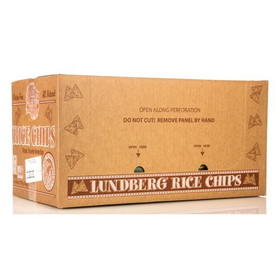 Lundberg Rice Chips, Sea Salt, Gluten-Free - 12 x 6 ozs.