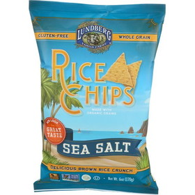 Lundberg Rice Chips, Sea Salt, Gluten-Free, SN123, Price/3 x 6 ozs