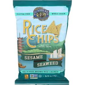Lundberg Rice Chips, Sesame & Seaweed, Gluten-Free, SN125, Price/3 x 6 ozs