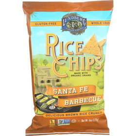 Lundberg Rice Chips, Santa Fe Barbeque, Gluten-Free, SN135, Price/3 x 6 ozs