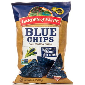 Garden of Eatin' Blue Corn Tortilla Chips, Salted - 3 x 8.1 ozs.