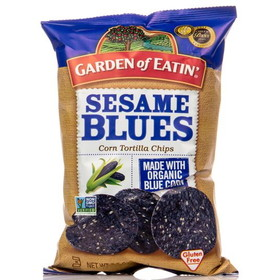 Garden of Eatin' Sesame Blues Tortilla Chips - 3 x 7.5 ozs.