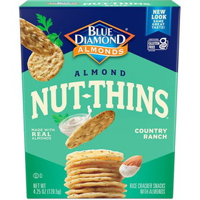 Blue Diamond Almond Nut Thins, Country Ranch - 3 x 4.25 ozs.