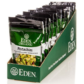 Eden Foods Pistachios, Shelled, Dry Roasted, Organic - 15 x 4 ozs.