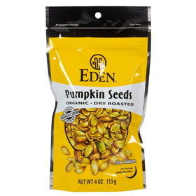 Eden Foods Pumpkin Seeds, Dry Roasted, Organic - 4 ozs.