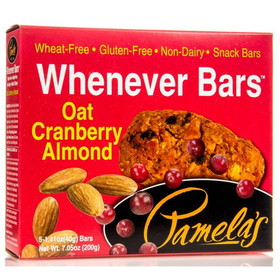 Pamela's Whenever Bars, Oat Cranberry Almond - 7.05 ozs.
