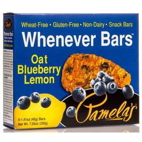 Pamela's Whenever Bars, Oat Blueberry Lemon - 7.05 ozs.