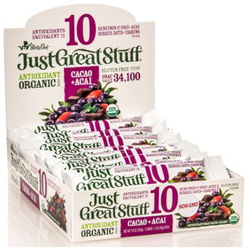 Betty Lou's Cacao Acai Bar, Organic - 12 x 1.5 ozs.