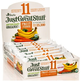 Betty Lou's Fruit & Veggie Bar, Organic, SN612, Price/12 x 1.50 ozs