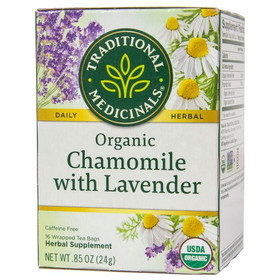 Traditional Medicinals Chamomile with Lavender Tea, Organic - 1 box