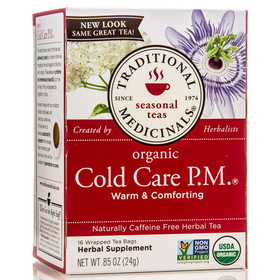Traditional Medicinals Cold Care PM, TE038, Price/1 box