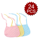 TopTie 24 Pieces Baby Bibs Strappy Style Dribble Bibs