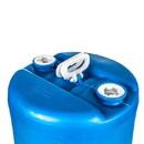 Basco 20 Gallon Closed Head Blue Plastic Drum