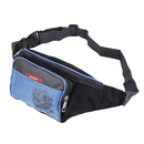 GOGO Nylon Sports Fanny Pack Waist Bag With 3 Zipper Pockets