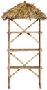 Bamboo54 5820 Bamboo 3 tier palapa shelf