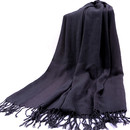 TopTie Scarf Wrap With Tassel Ends, Solid Color / Tow-Tone Color, Gift Idea