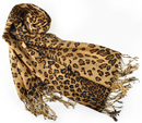 TopTie Leopard Animal Print Pashmina Soft Shawl Scarf Stole, Gift Idea
