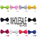 Wholesale Lot 50 Pcs Men's Formal Pretied Tuxedo Bow Tie, Adjustable Band