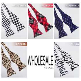 Wholesale Lot 10 Pcs Men & Boys Formal Self-Tie Bow Tie (Lots of Designs)