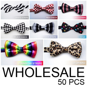 Wholesale Lot 50 Pcs  Men & Boys Fashion Pretied Tuxedo Bow tie, Lots of Design
