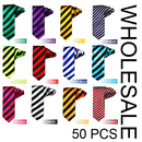 Wholesale Lot 50 Pcs Fashion Polyester Stripe Skinny 2 Inch Necktie, Lots of Colors