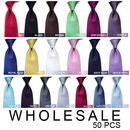 Solid Color New Stripe Necktie, Wholesale Tie, 50 Pieces
