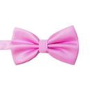 TOPTIE Men's Pre-Tied Bow Tie, Small-Checked Solid Color, Wedding Party Necktie